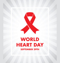 World heart day vector