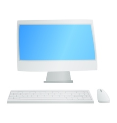 Desktop computer isolated vector