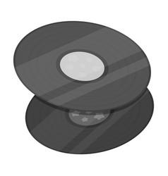 vinyl recordshippy single icon in monochrome vector image