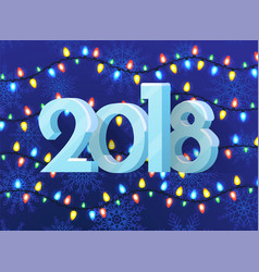 2018 poster with pattern vector image vector image
