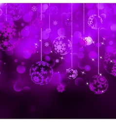 Christmas bokeh background with baubles eps 8 vector
