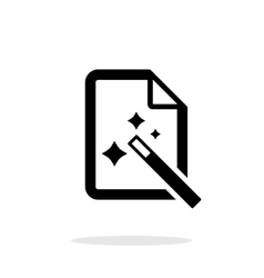 Magic file icon vector