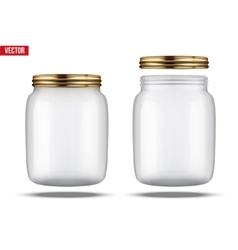 Glass jars for canning and preserving vector
