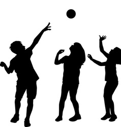 Children playing with a ball vector