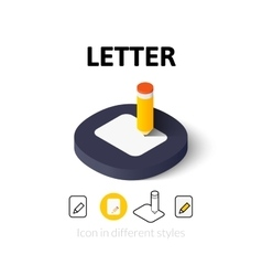 Letter icon in different style vector
