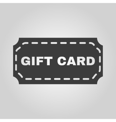 The gift card icon coupon and discount  offer vector