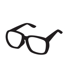 Black glasses icons vector