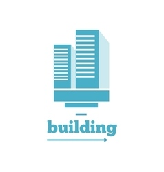 Building logo sign design flat vector