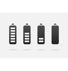 Battery accumulator charge icon or symbol set vector