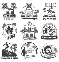 Summer beach label set vector