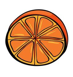 A sliced orange vector image