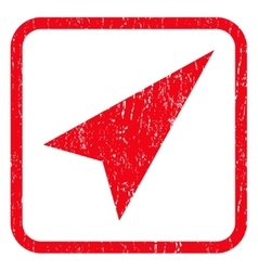 Arrowhead right-up icon rubber stamp vector