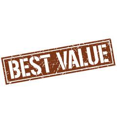 Best value square grunge stamp vector