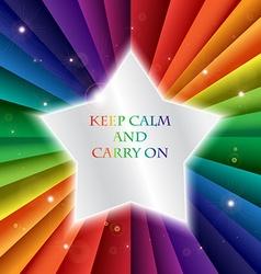 Bright rainbow celebration holiday banne keep calm vector