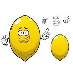 Cartoon yellow lemon citrus fruit vector image