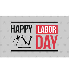 Collection stock happy labor day vector