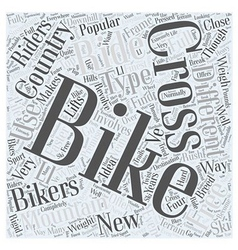 Cross country mountain biking word cloud concept vector
