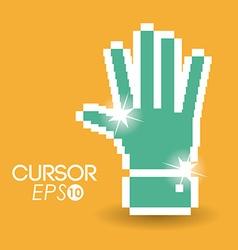 Cursor design vector image vector image