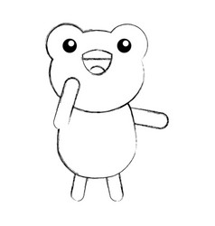 Cute sketch draw toad cartoon vector
