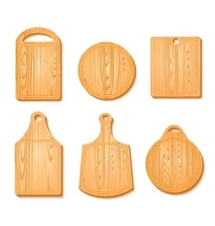 Cutting Board Icon Set vector image