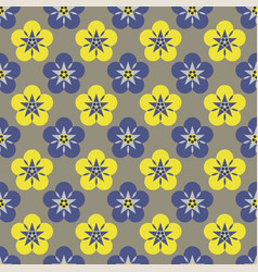 Flower silhouette color pattern seamless vector