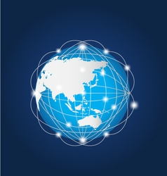 Global Network Asia vector image