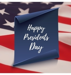 Happy presidents day background on blue curved vector