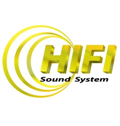 Hifi sound system logo vector