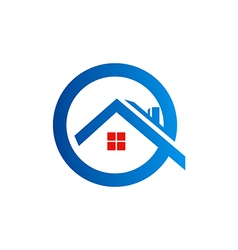 home roof construction logo vector image