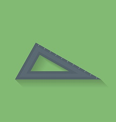 Icon of triangle ruler flat style vector