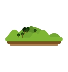 Isolated mountain and trees design vector
