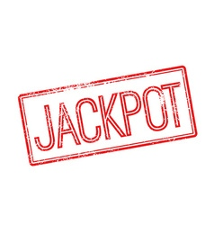 Jackpot red rubber stamp on white vector