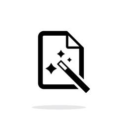 Magic file icon vector image vector image