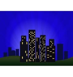 Of Night Cityscape vector image