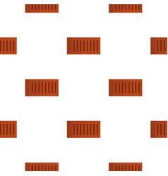 Orange brick pattern flat vector