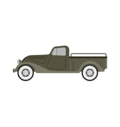 Retro car isolated vector image vector image