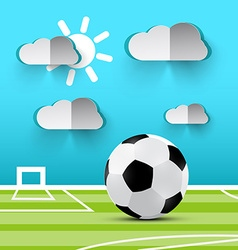 Soccer Ball on Playground Football Footbal vector image