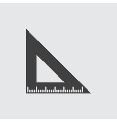 Triangle ruler icon vector