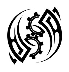 tribal tattoo design with gothic elements vector image vector image