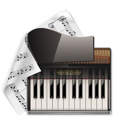 vector grand piano xxl icon vector image vector image