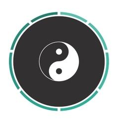 Ying yang computer symbol vector