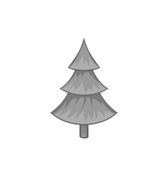 Fur tree icon black monochrome style vector