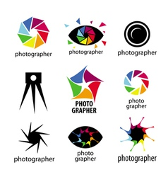 collection of logos for photographers and photo vector image