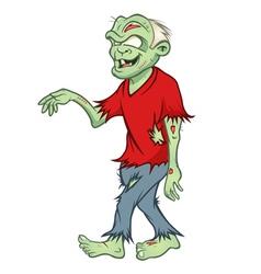 zombie walking vector image
