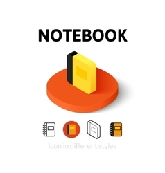 Notebook icon in different style vector