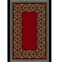 Carpet with colored ornament on the border vector