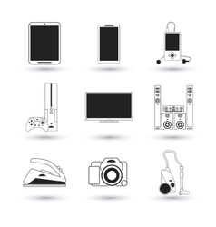 Electronics and technology design vector image