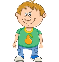 Little boy cartoon vector