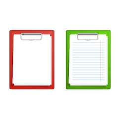 Clipboard base white blank paper vector