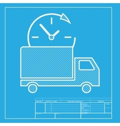 Delivery sign  white section of icon vector